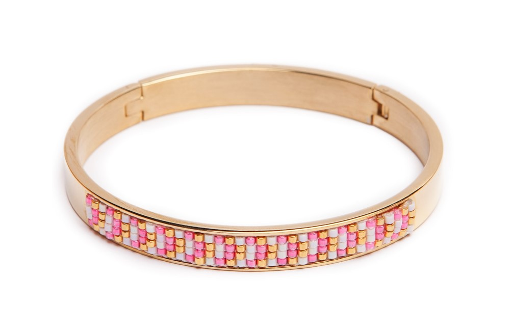 The Bangle Gold & Miyuki | Silis Bracelet