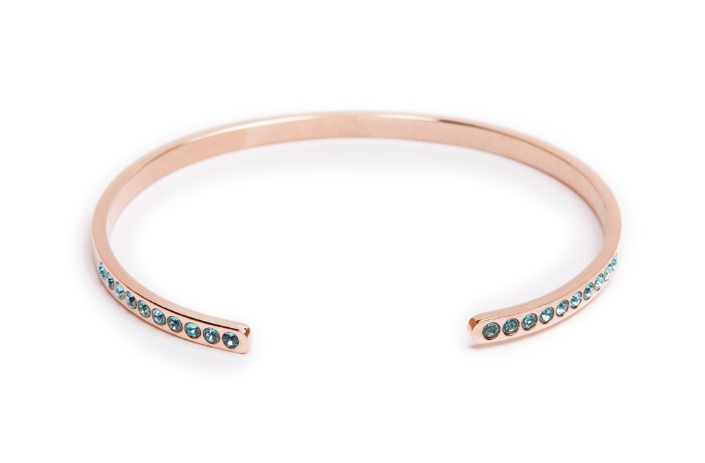 The Esclave Strass Pink Gold | Silis Clamp Cuff Bracelet