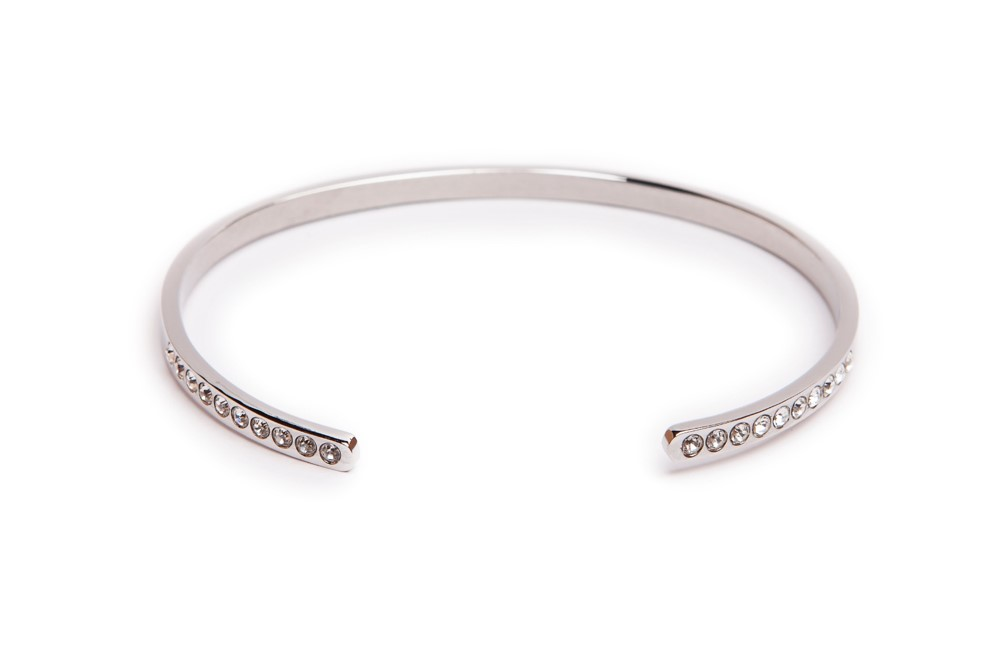 The Esclave Strass Silver | Silis Clamp Cuff Bracelet