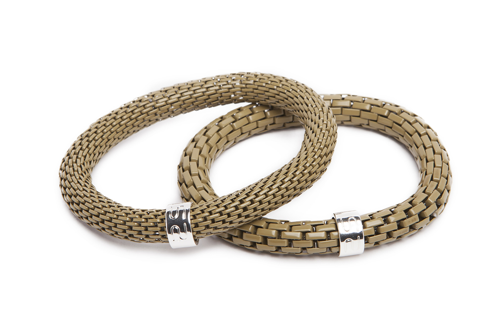 The Snake Mix Precious Olive | Green Silis Bracelet