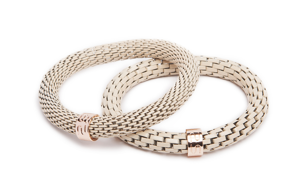 The Snake Mix Nudes & Pink Gold | Silis Bracelet