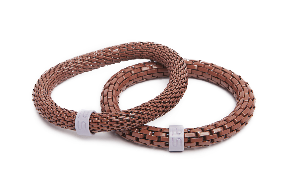 The Snake Mix Warm Cognac | Brown Silis Bracelet