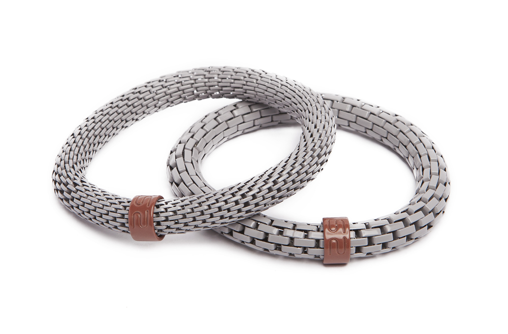 The Snake Mix Romantic Grey | Silis Bracelet