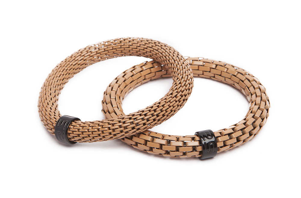THE SNAKE MIX BRACELET | OH LIGHT COGNAC