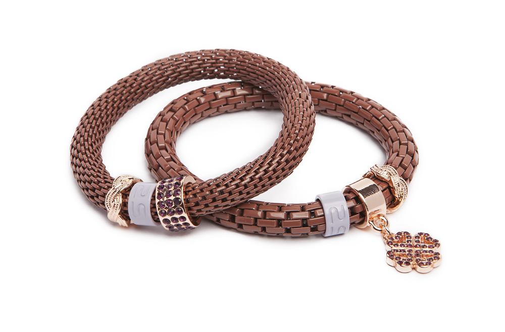The Snake Strass Warm Me Up With Cognac & Clover | Silis Bracelet