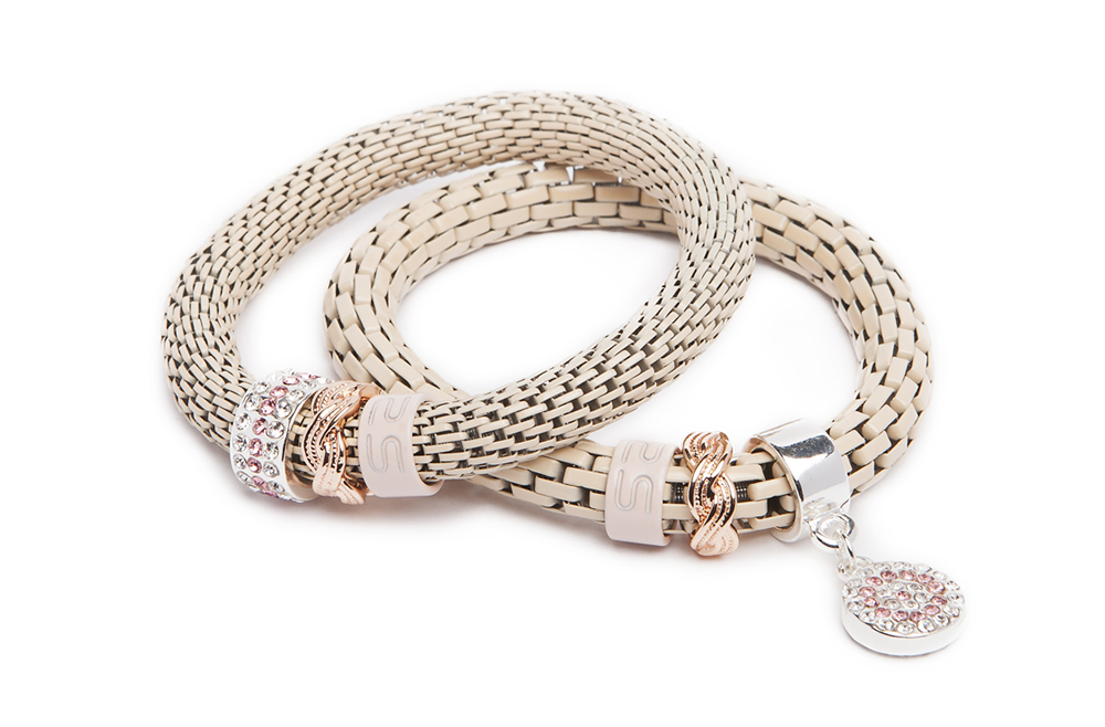 THE SNAKE STRASS BRACELET | SNOW NUDES & STRASS ROUND