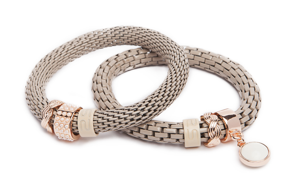 The Snake Strass Bracelet | A Touch Of Taupe & Pearl