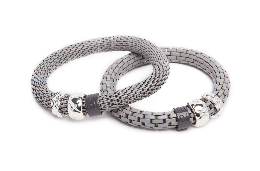 The Snake Strass Bracelet | Romantic Grey & Carre