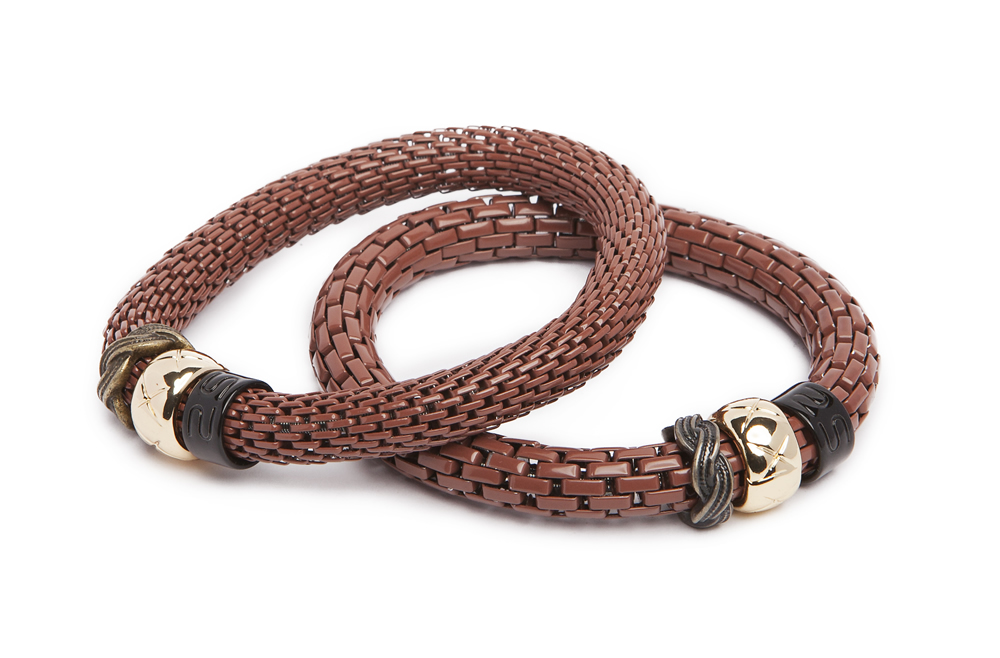 The Snake Strass Warm Me Up With Cognac & Carre | Silis Bracelet