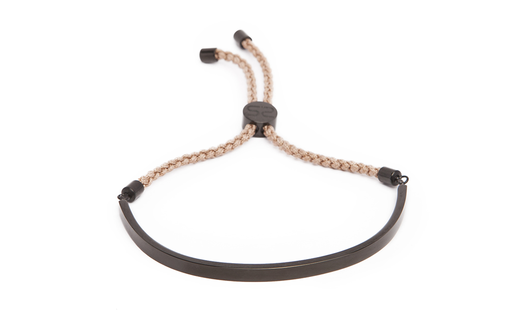 The Bangle Cord Classic Black & Cognac | Silis Bracelet