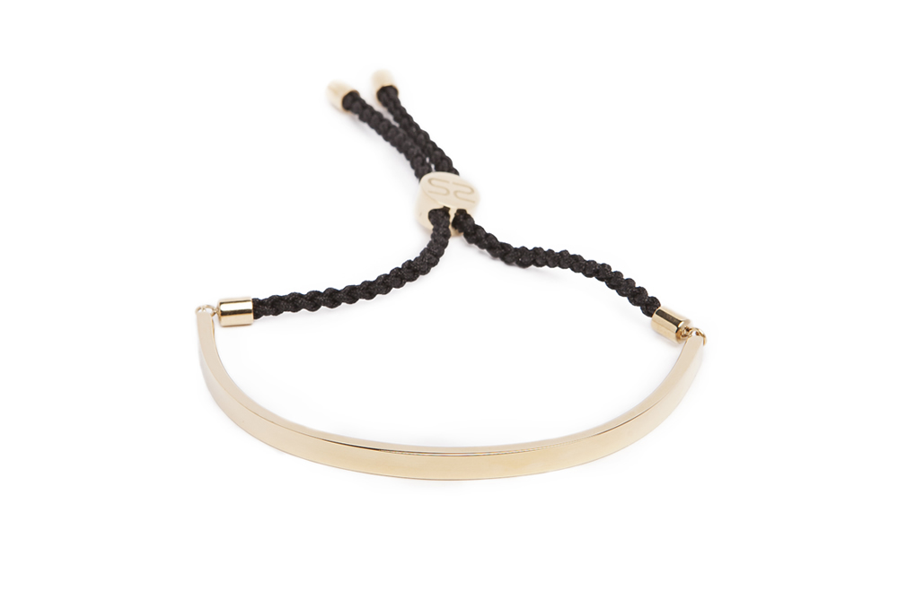 The Bangle Cord Gold Out & Black | Silis Bracelet