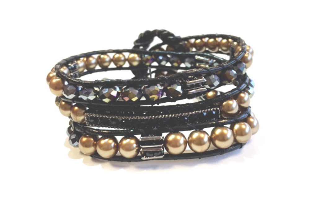 The Wrap Strass | Black & Gold