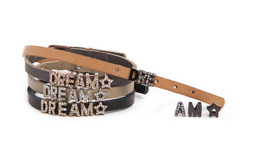 The Leather Text Precious Olive | Silis Leather Bracelet