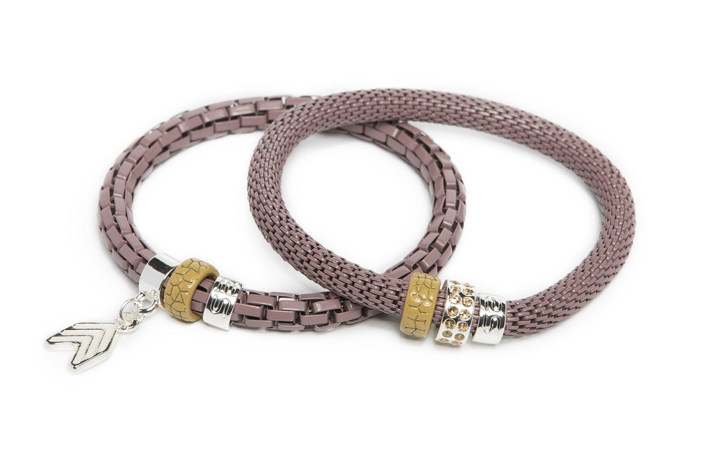 The Snake Strass Shades Of Purple & Arrow | Silis Bracelet Ø5.5mm