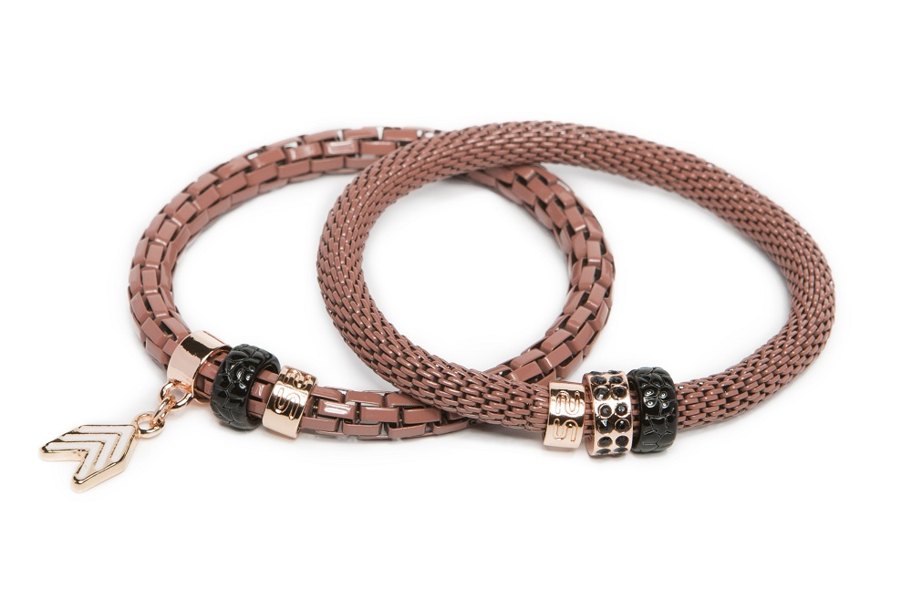 The Snake Strass Pink Terra & Arrow | Silis Bracelet Ø5.5mm