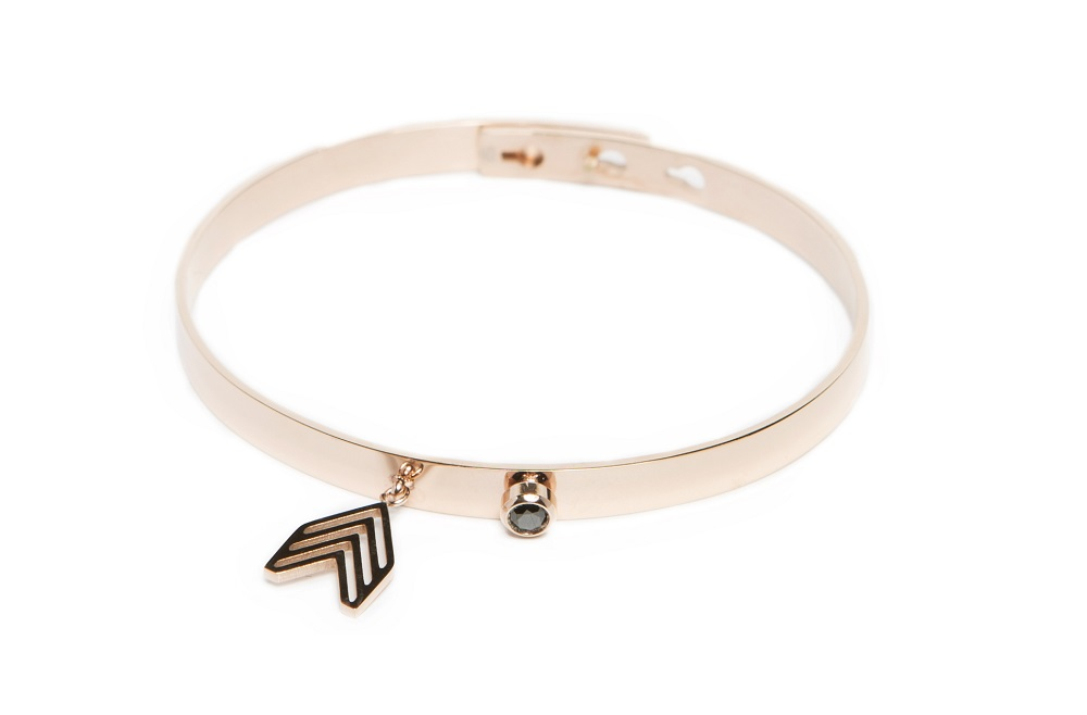 The Bangle Charm Rosé All Day & Arrow | Silis Bracelet