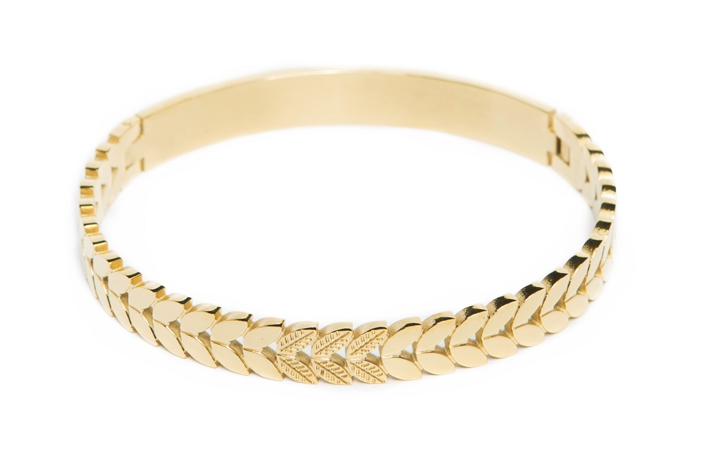 The Bangle Crown Leaf Gold Out | Silis Bracelet