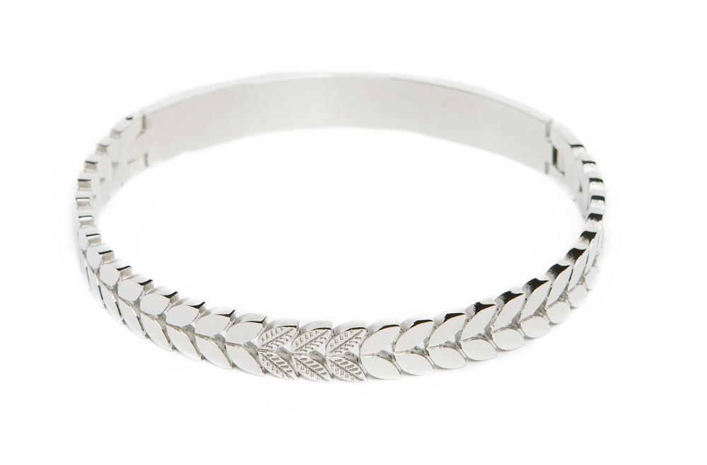 The Bangle Crown Leaf So Silver | Silis Bracelet