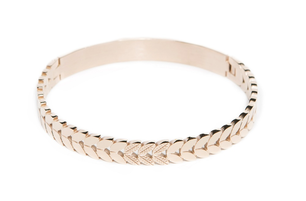 The Bangle Crown Leaf Rosé All Day | Silis Bracelet
