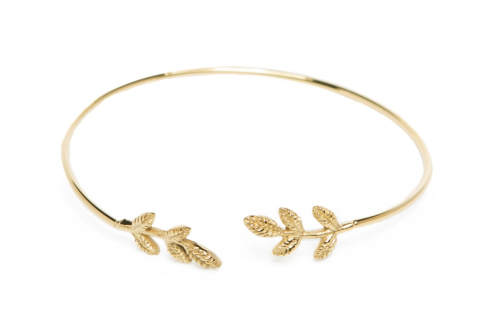 The Esclave Leaf Gold Out | Silis Clamp Cuff Bracelet