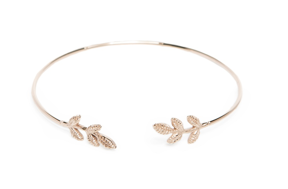 The Esclave Leaf Rosé All Day | Silis Clamp Cuff Bracelet