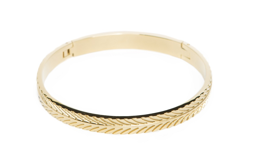 The Bangle Feather Gold Out | Silis Bracelet