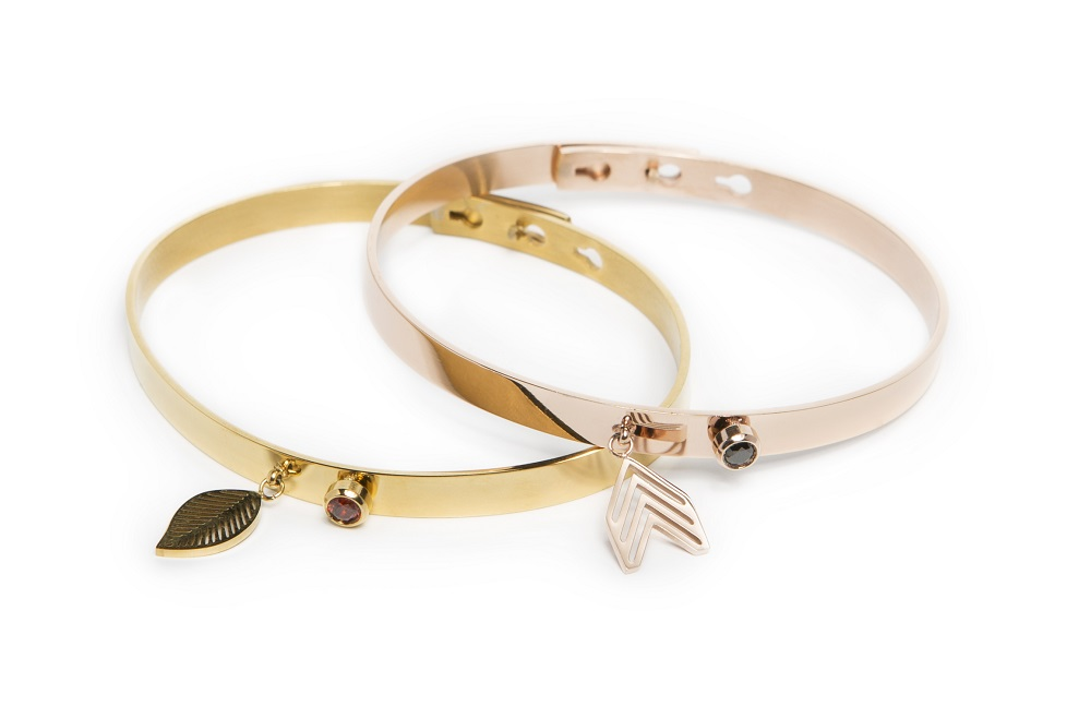The Bangle Charm | Gold Out & Leaf | Silis Armband