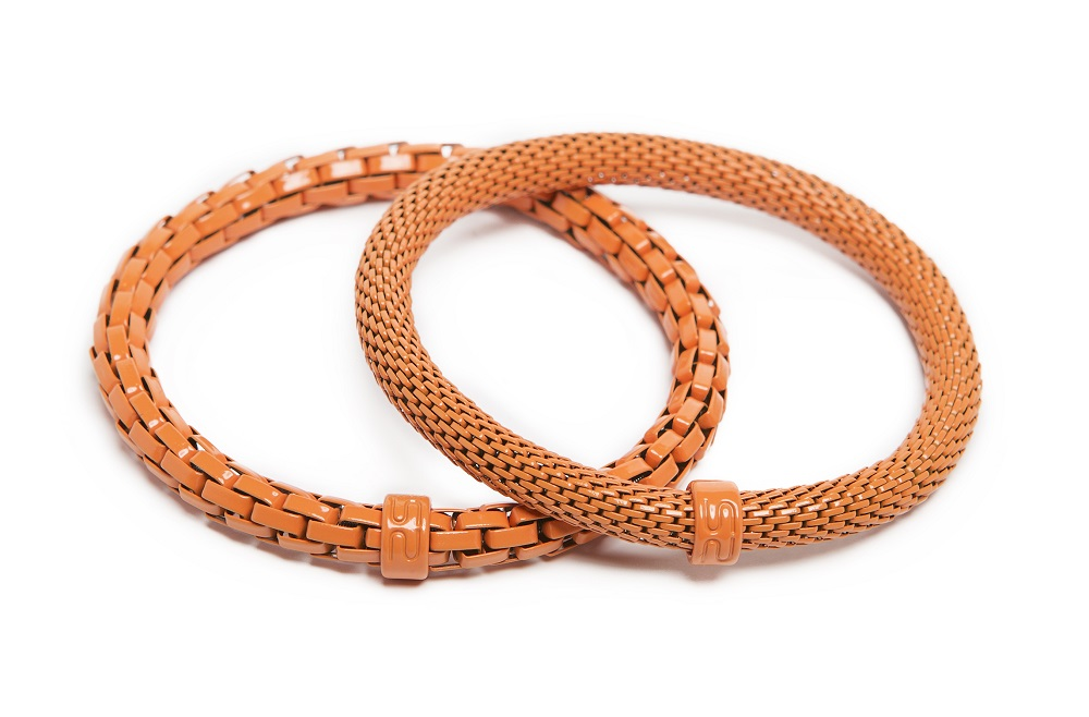 The Snake Mix Amber Glow | Orange Silis Bracelet