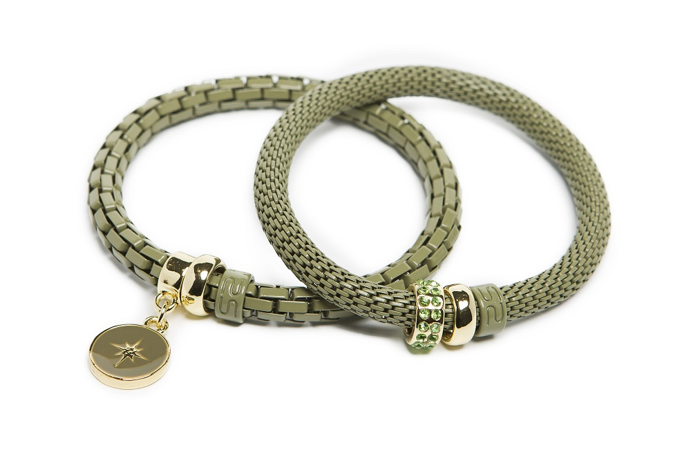 The Snake Strass Dried Herb & Star Charm | Silis Bracelet