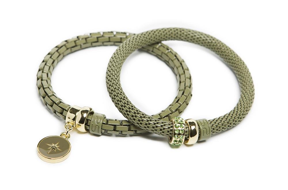 The Snake Strass Dried Herb & Star Charm | Silis Bracelet