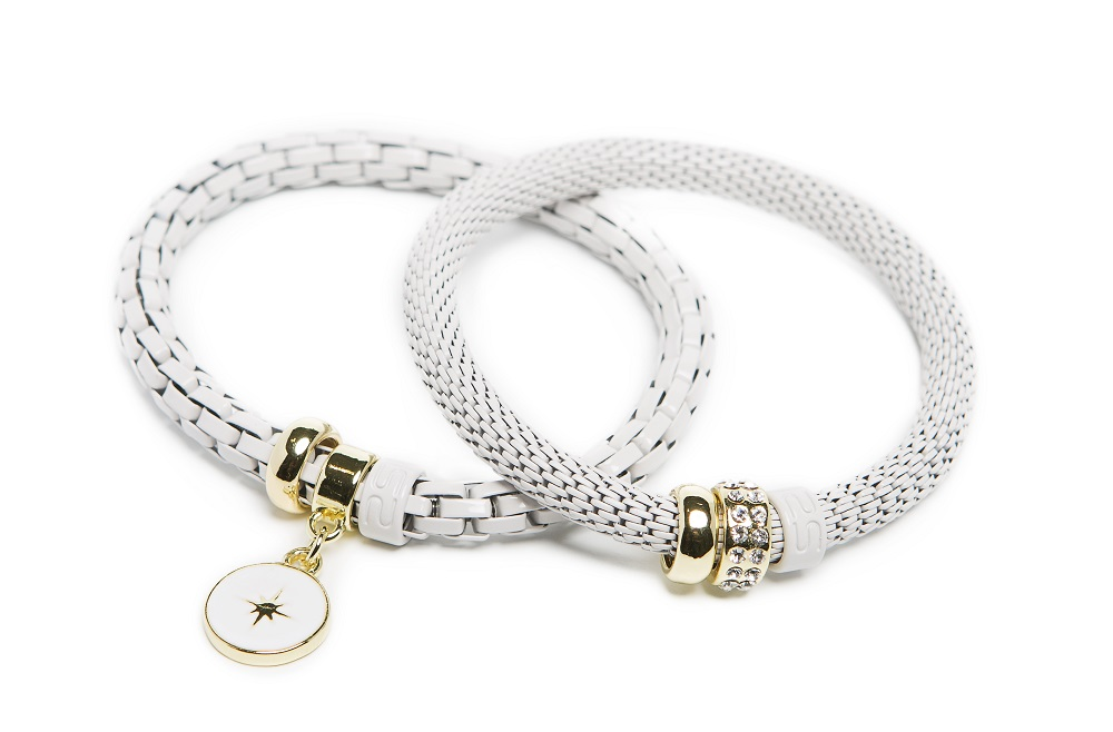 The Snake Strass White Sand & Star Charm | Silis Bracelet