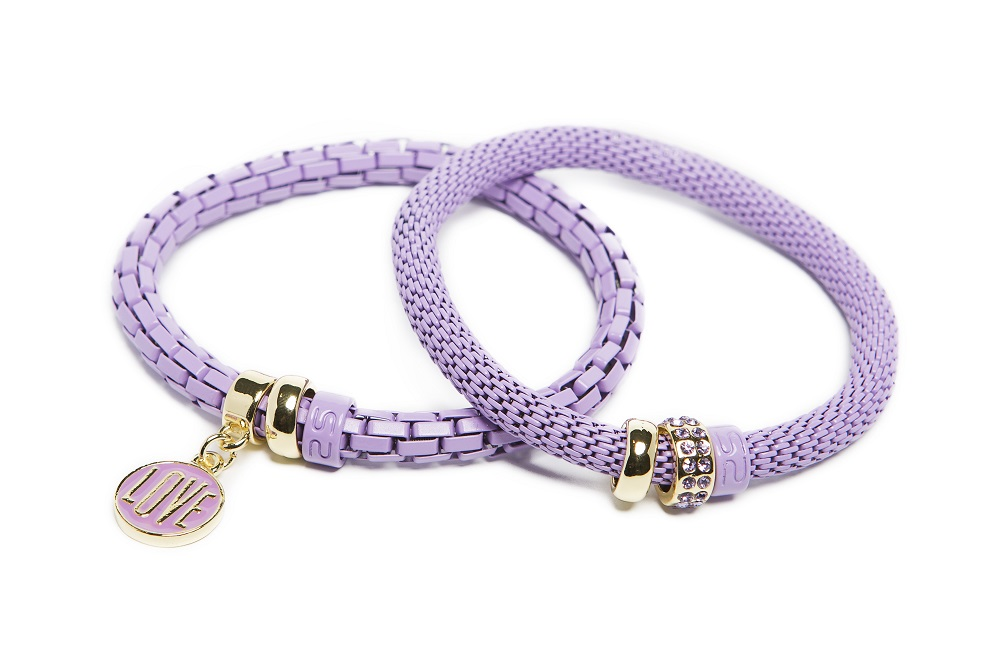 The Snake Strass Orchid Bloom & Love Charm | Silis Bracelet