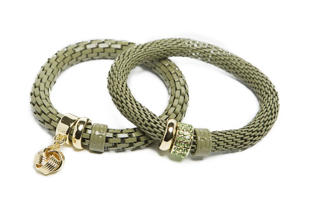 The Snake Strass Dried Herb & Knot Charm | Silis Bracelet