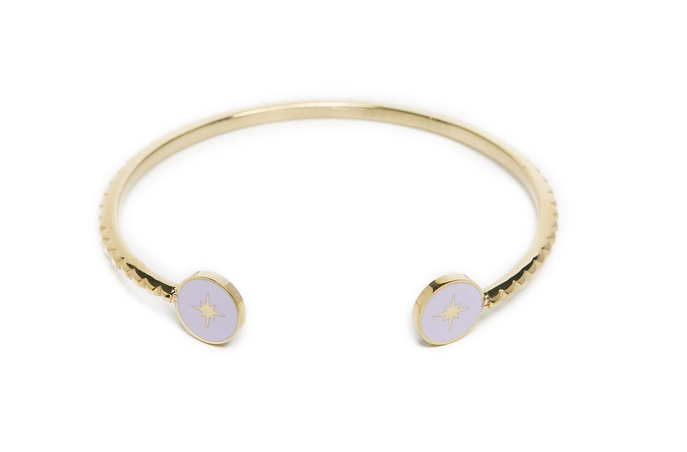 The Esclave Star Gold Out & Light Grey | Silis Clamp Cuff Bracelet