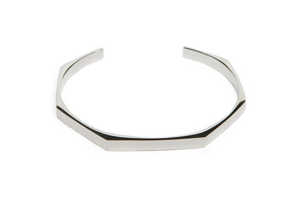 The Esclave Square So Silver | Silis Clamp Cuff Bracelet