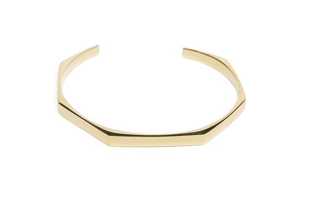 The Esclave Square Gold Out | Silis Clamp Cuff Bracelet