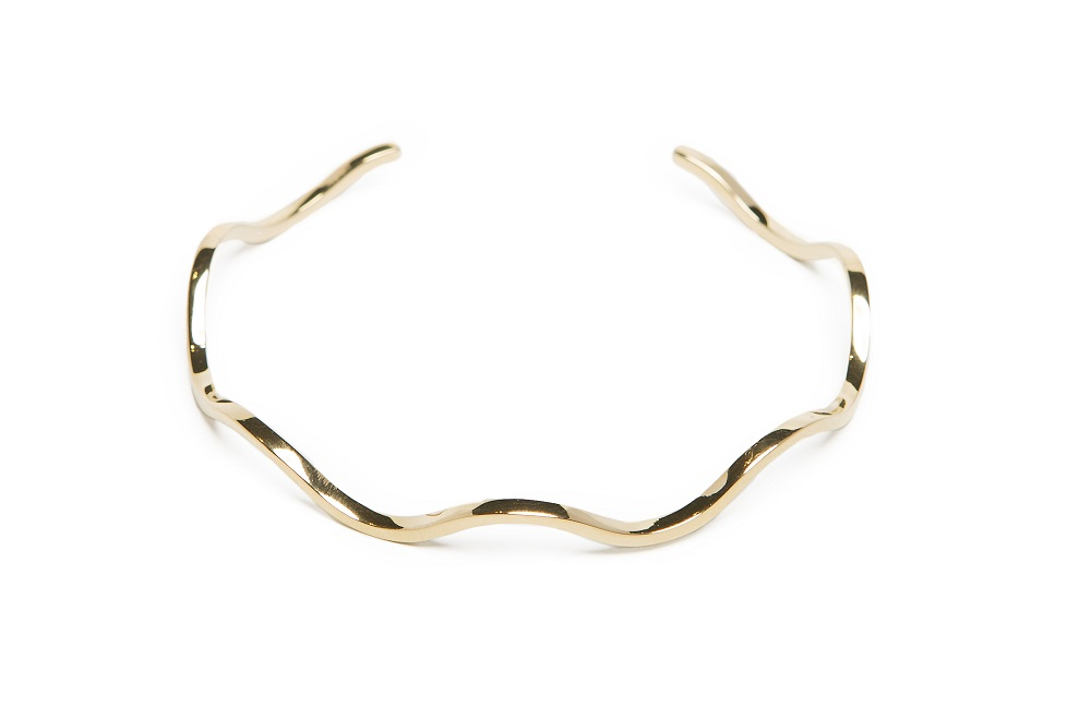 The Esclave Wave Gold Out | Silis Clamp Cuff Bracelet