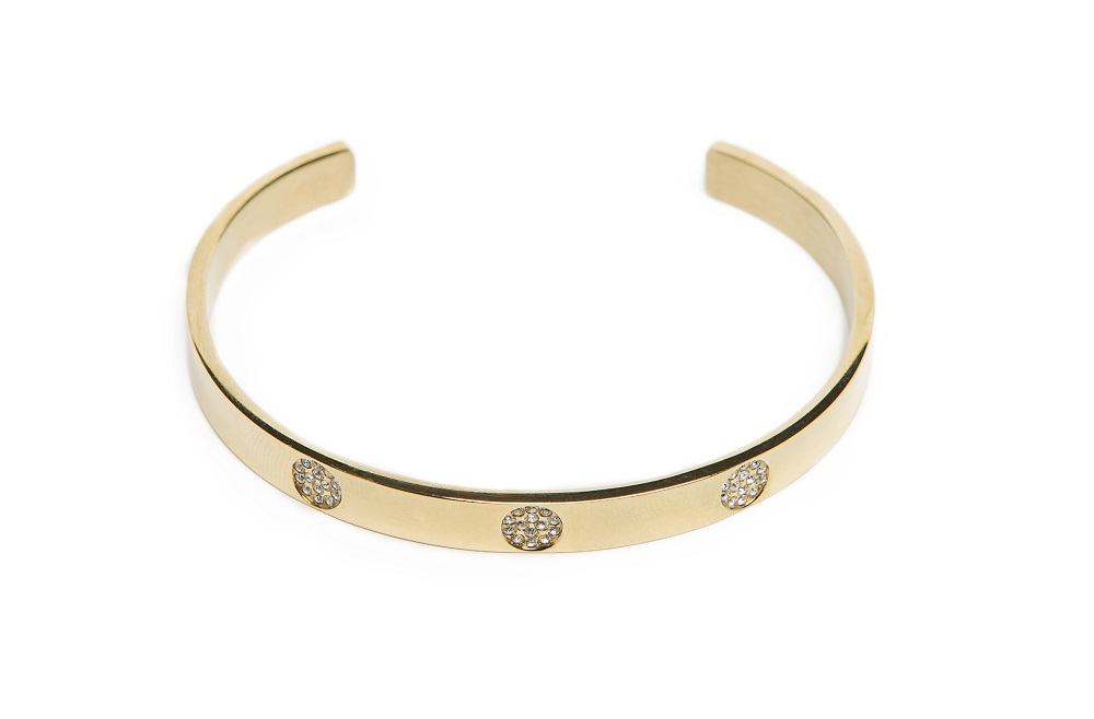 The Esclave Strass Gold Out | Silis Clamp Cuff Bracelet