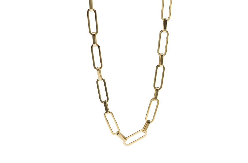 The Necklace Square Gold Out | Silis Chain Necklace