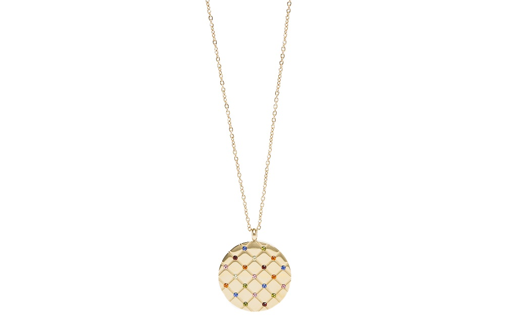 The Necklace Strass Grill Gold & Crystal Strass - IPG Gold Plating | Silis Charm Necklace