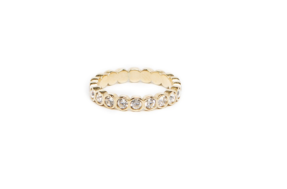 The Ring Strass Gold & White Strass | Silis Multi-Stone Ring