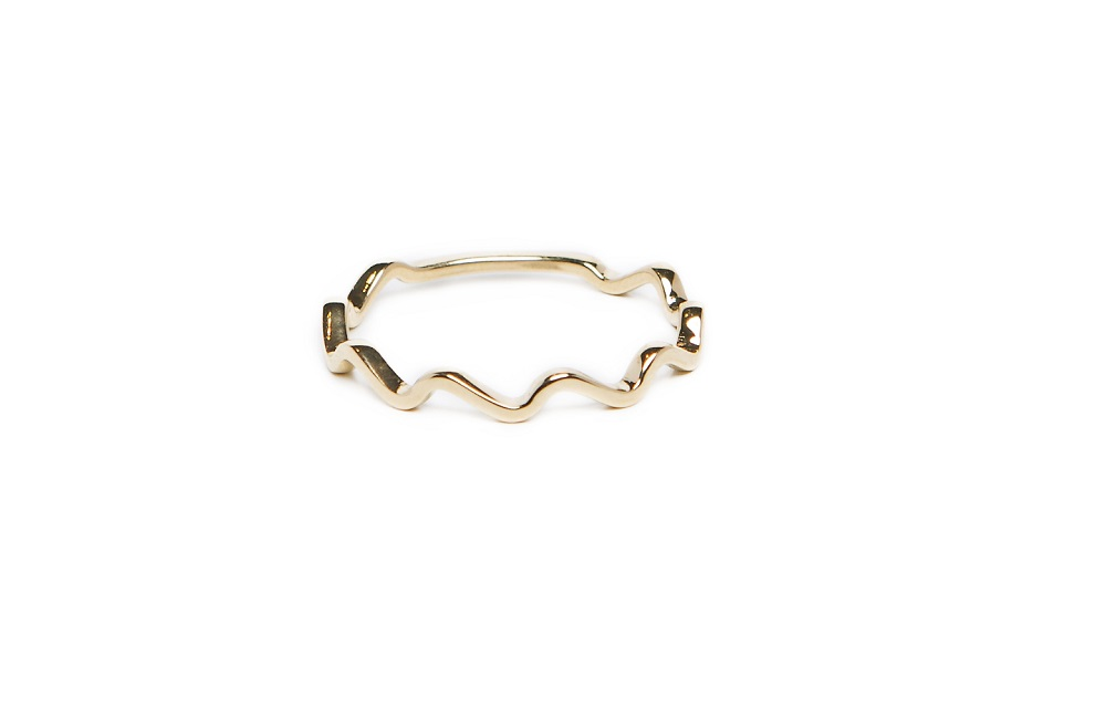 The Ring Wave Gold Out | Silis Stackable Ring