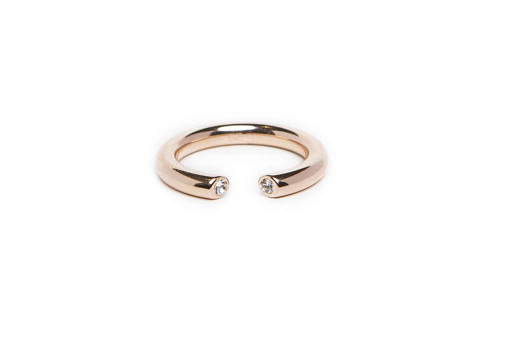 The Ring Hidden Strass Rosé All Day | Silis Stackable Ring