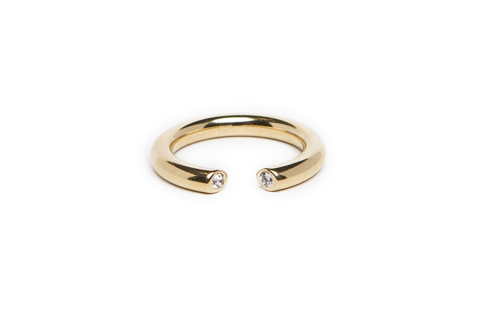 The Ring Hidden Strass Gold Out | Silis Stackable Ring