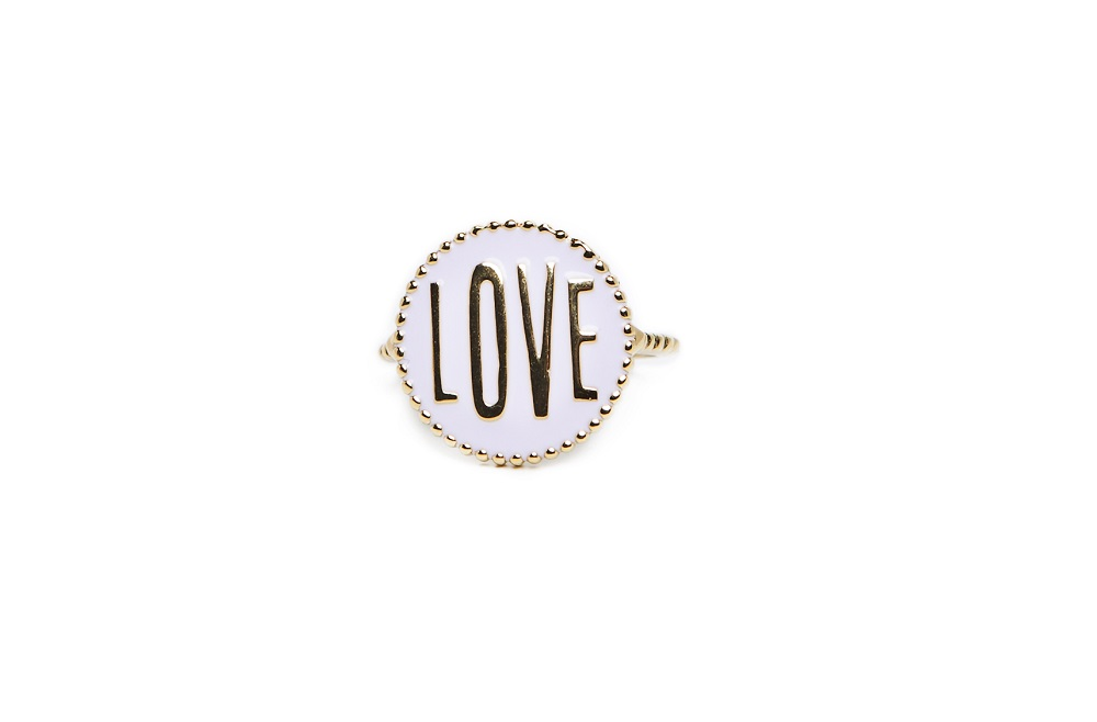 The Ring Love Color Gold Out | Silis Statement Ring