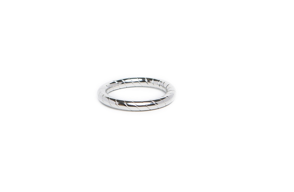 The Ring Hoop So Silver Steel | Silis Stackable Ring