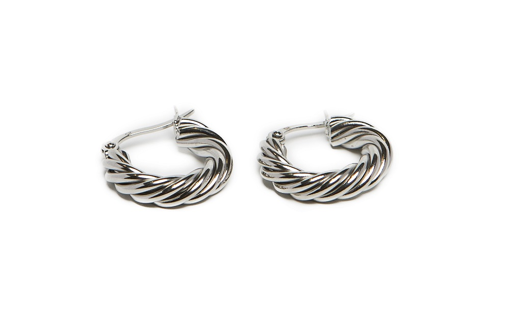 The Earrings Twisted Hoops So Silver | Silis Hoop Earrings