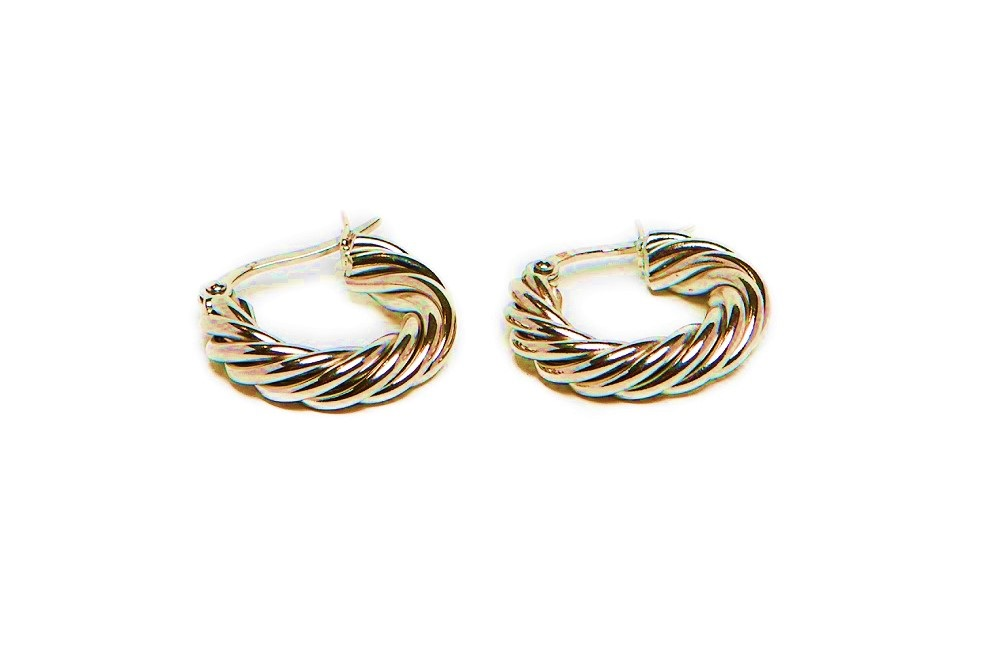The Earrings Twisted Hoops Gold Out | Silis Hoop Earrings