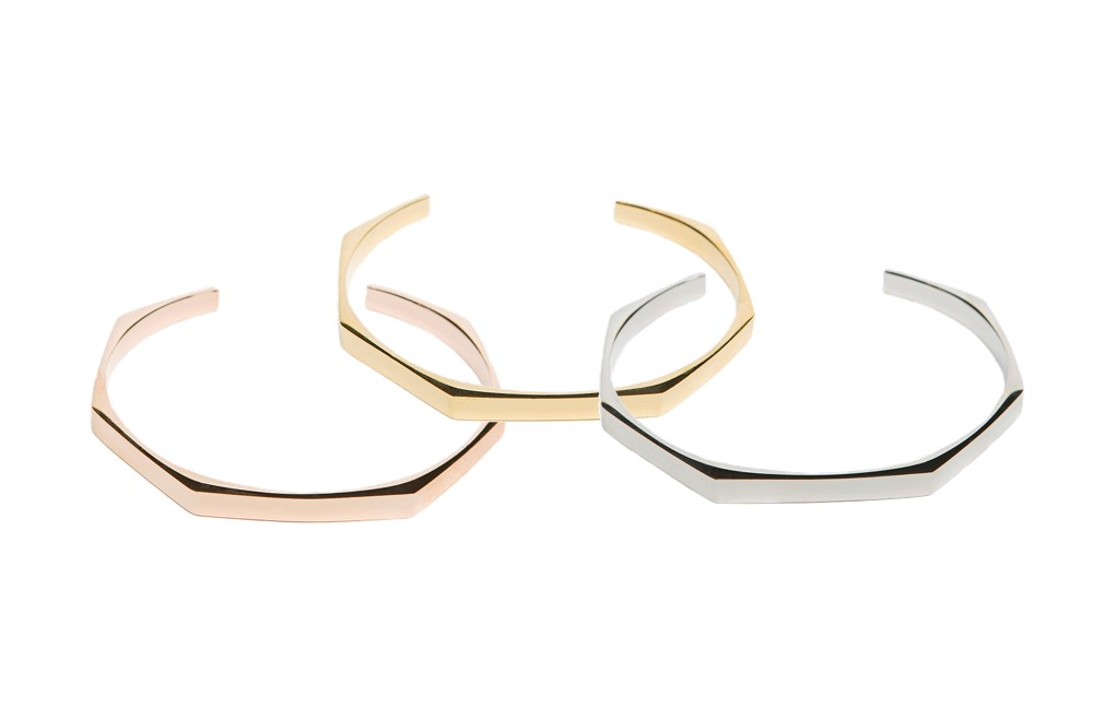The Esclave Square Rosé All Day | Silis Clamp Cuff Bracelet