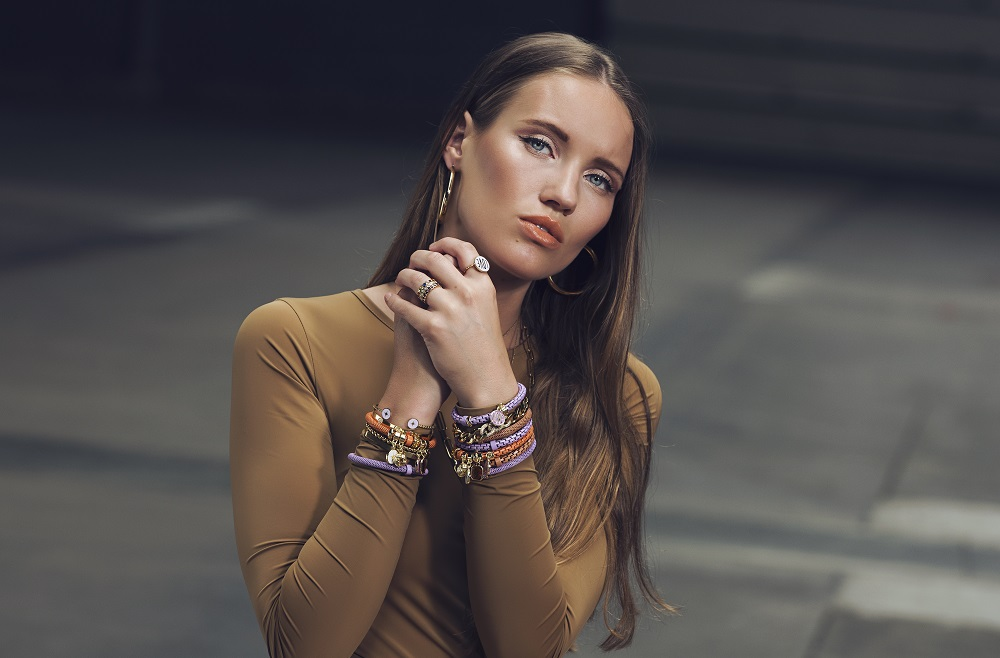 The Snake Mix Hazel | Brown Silis Bracelet